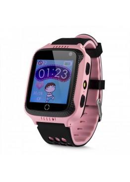 Smart Baby Watch Q529 Pink с камерой и фонариком