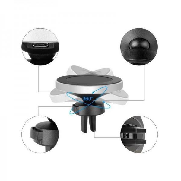 Беспроводное зарядное устройство Qitech Auto Magnetic fast charge для автомобиля с технологией Qi