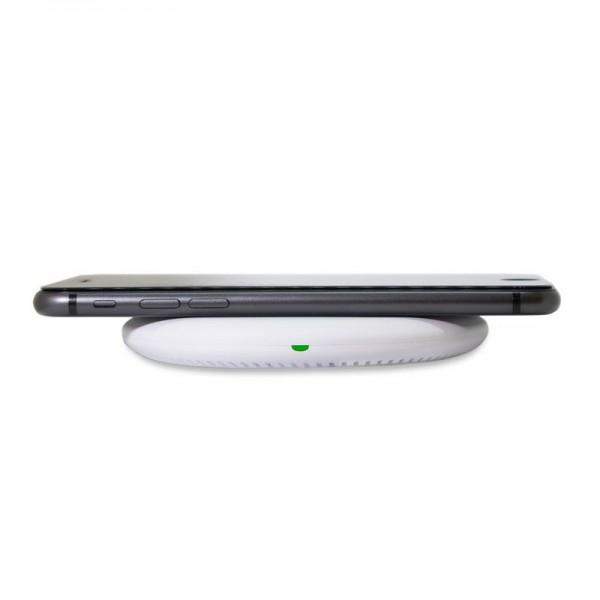 Беспроводное зарядное устройство Qitech Fast Charger White с технологией Qi