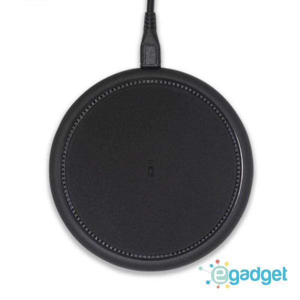 Беспроводное зарядное устройство Qitech Rubber Pad Black с технологией Qi