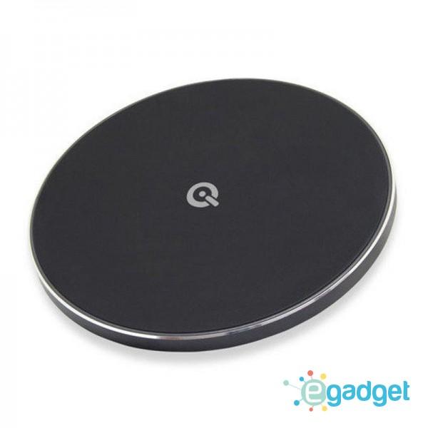 Быстрое беспроводное зарядное устройство Qitech Fast Charger 2 Gen Black с технологией QI