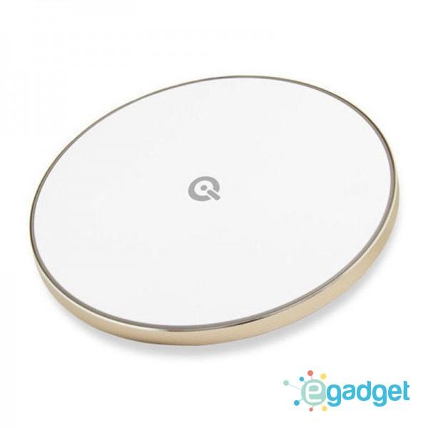 Быстрое беспроводное зарядное устройство Qitech Fast Charger 2 Gen Gold с технологией QI