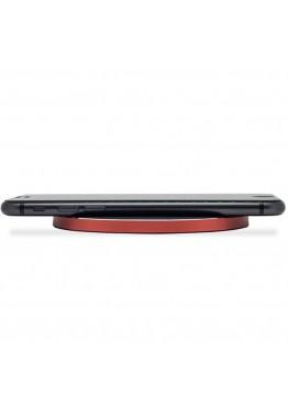 Быстрое беспроводное зарядное устройство Qitech Fast Charger 2 Gen Red с технологией QI