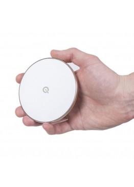 Быстрое беспроводное зарядное устройство Qitech Fast Charger 2 Gen Silver с технологией QI