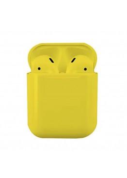 Сенсорные беспроводные Bluetooth наушники i18 TWS Original Yellow