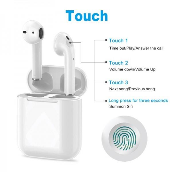 Сенсорные беспроводные Bluetooth наушники i18 TWS Original White