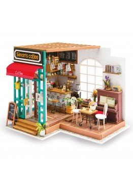 Интерьерный 3D конструктор DIY House Кафе Саймона Simon's Coffee