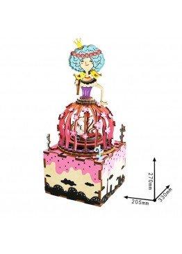 Музыкальная шкатулка конструктор DIY Music Box Принцесса Princess