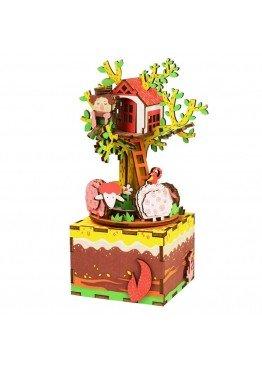 Музыкальная шкатулка конструктор DIY Music Box Домик на дереве Tree House