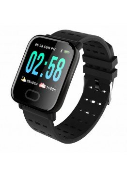 Smart Watch-bracelet A6 Black с тонометром