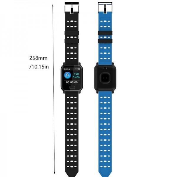 Smart Watch-bracelet A6 Blue с тонометром