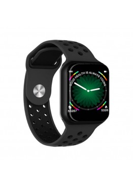 Smart watch band F8 black с тонометром