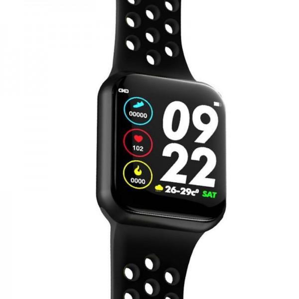 Smart watch band F8 black с тонометром