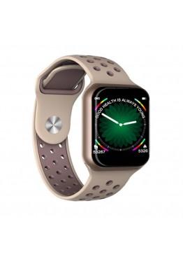 Smart watch band F8 gold с тонометром