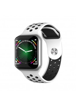 Smart watch band F8 white с тонометром