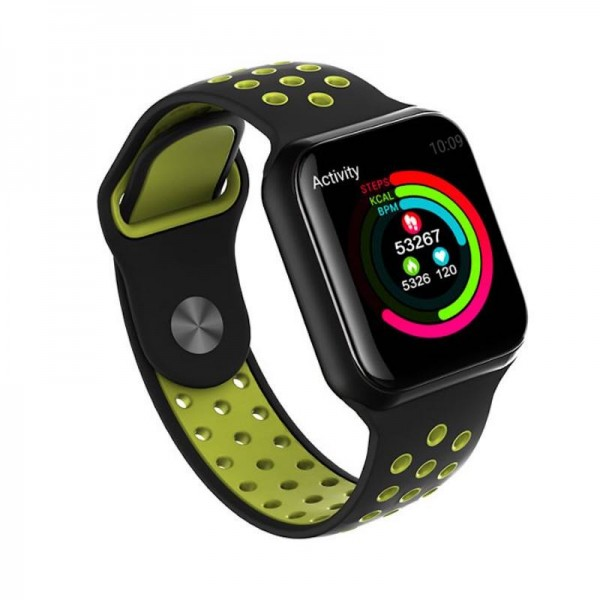 Smart watch band F8 green с тонометром