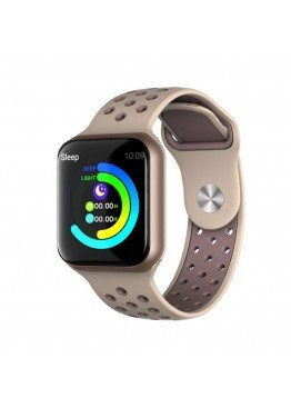 Smart watch band F8 gold с тонометром
