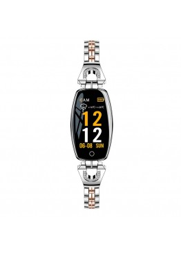 Smart band H8 Luxury Silver Waterproof IP67