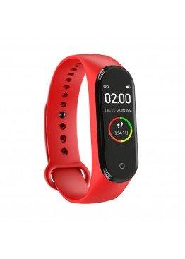 Smart band M4 Red с измерением давления