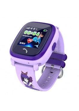 Smart Baby Watch DF25G Purple waterproof
