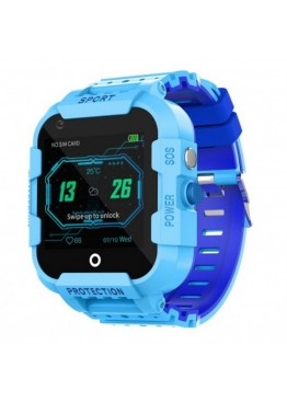 Smart Watch Kids DF39z с видеозвонками и влагозащитой IP67 Blue