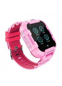 Smart Watch Kids DF39z с видеозвонками и влагозащитой IP67 Pink