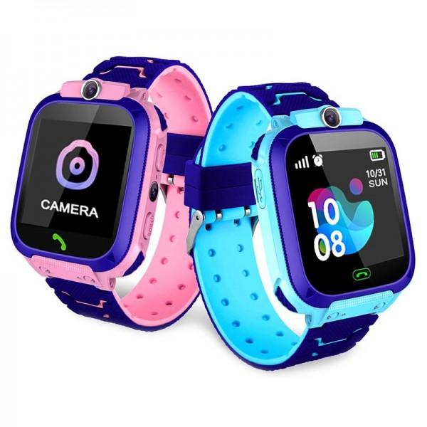 Smart Baby Watch Q12 pink водонепроницаемые с камерой